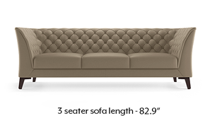Weston Half Leather Sofa (Cappuccino Italian Leather)
