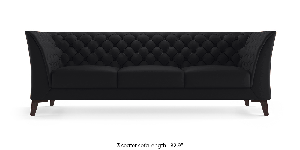 Weston Leather Sofa (Licorice Italian Leather) by Urban Ladder