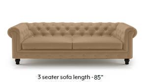 Winchester Half Leather Sofa (Camel Italian Leather)