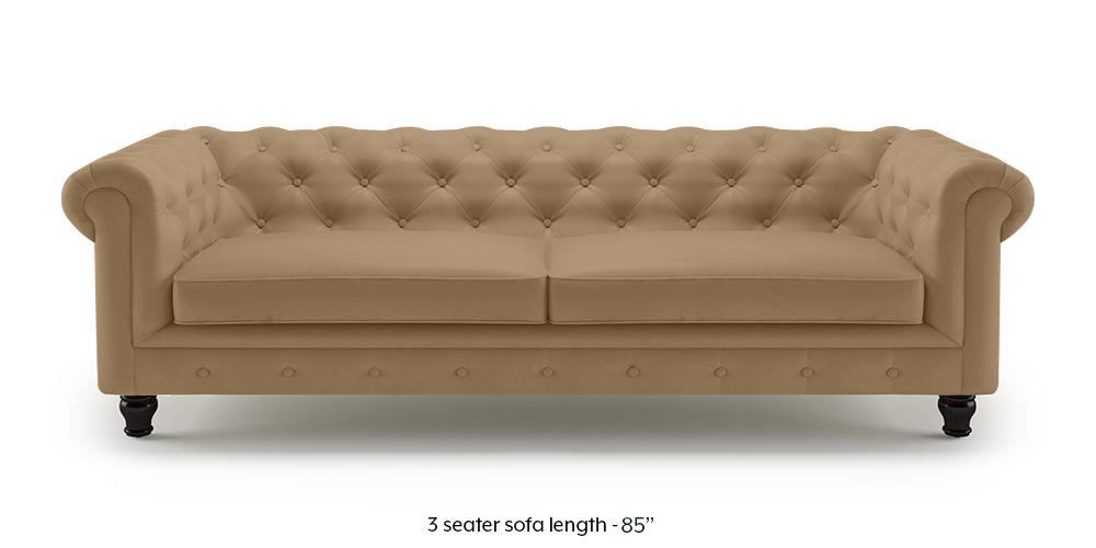 Winchester Leather Sofa (Camel Italian Leather) by Urban Ladder