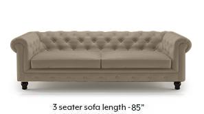 Winchester Half Leather Sofa (Cappuccino Italian Leather)