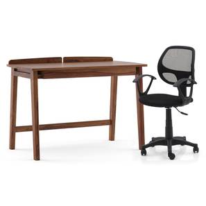Larsson - Eisner Study Set (Teak Finish, Black) by Urban Ladder