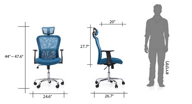 Venturi study chair blue new dim