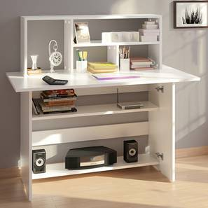 Anton Study Table (White) by Urban Ladder - - 295649
