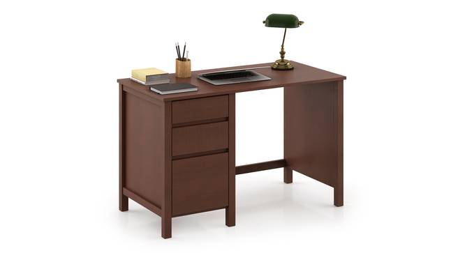 Agatha Study Table (Dark Walnut Finish, Without Hutch Structure) by Urban Ladder - Cross View - 295663