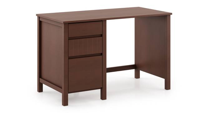 Agatha Study Table (Dark Walnut Finish, Without Hutch Structure) by Urban Ladder - Front View Design 1 - 295664