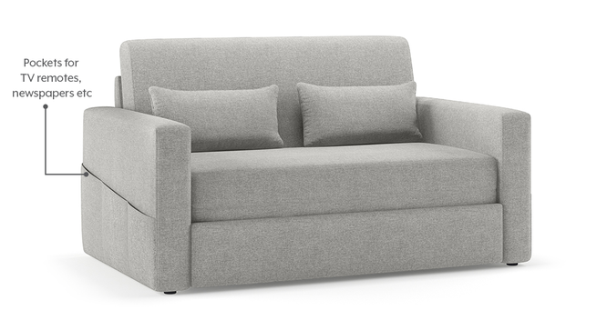 Camden Compact Sofa Cum Bed (Vapour Grey) by Urban Ladder - Front View Design 1 - 295699