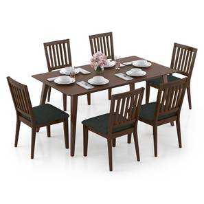 Lawson - Diner 6 Seater Dining Table Set (Walnut Finish) by Urban Ladder