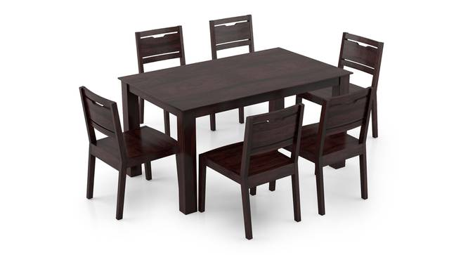 Arabia - Aries 6 Seater Dining Table Set (Mahogany Finish) by Urban Ladder - Front View Design 1 - 295890