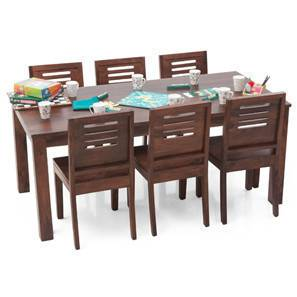 Arabia XL - Capra 6 Seater Dining Set (Teak Finish) by Urban Ladder