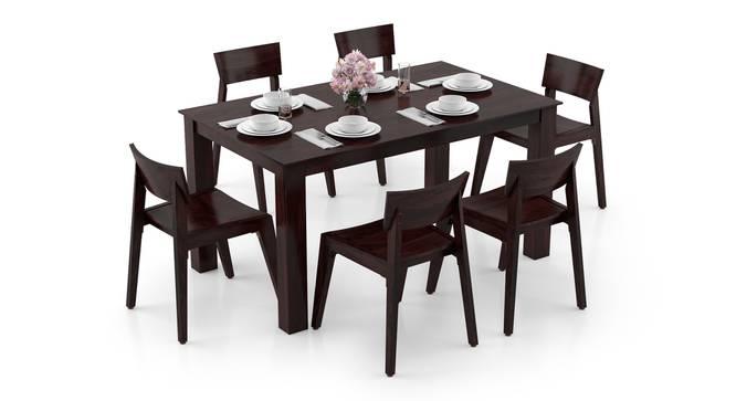 Arabia - Gordon 6 Seater Dining Table Set (Mahogany Finish) by Urban Ladder - Design 1 Full View - 295907