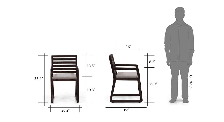 Hawley study chair mahogony dimensions