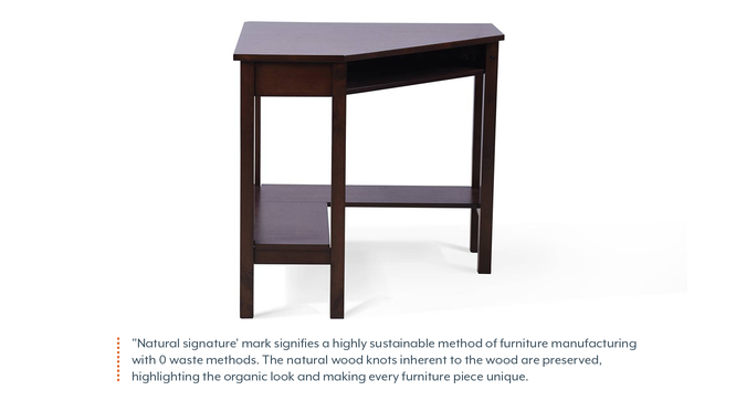 Collins - Aurelio Study Set (Olive, Dark Walnut Finish) by Urban Ladder - Front View Design 1 - 296133