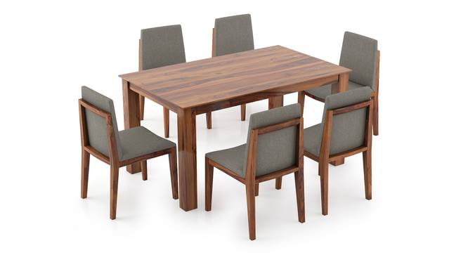 Arabia - Galatea 6 Seater Dining Table Set (Teak Finish) by Urban Ladder - Front View Design 1 - 296245