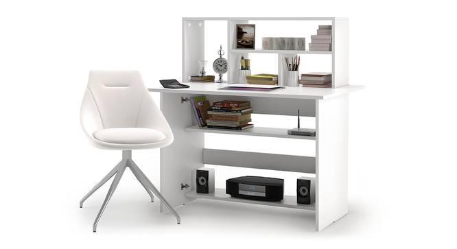 Anton - Doris Study Set (White Finish, White Leatherette) by Urban Ladder - Design 1 Full View - 296308