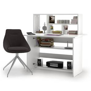 Anton - Doris Study Set (Dark Grey, White Finish) by Urban Ladder - Design 1 Full View - 296320