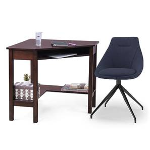 Collins - Doris Study Set (Blue, Dark Walnut Finish) by Urban Ladder - Design 1 Full View - 296369