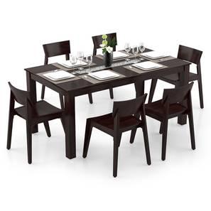 Brighton Large - Gordon 6 Seater Dining Table Set (Mahogany Finish) by Urban Ladder - Design 1 Full View - 296777