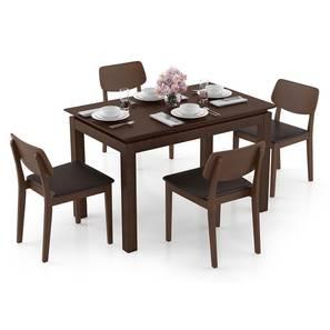 Diner - Lawson 4 Seater Dining Table Set (Dark Walnut Finish, Dark Brown) by Urban Ladder - Design 1 Full View - 296828