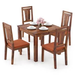 Arabia Storage - Martha 4 Seater Dining Table Set (Teak Finish, Burnt Orange) by Urban Ladder - Design 1 Full View - 296954