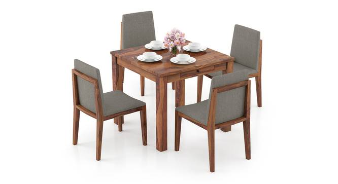 Arabia Storage - Galatea 4 Seater Dining Table Set (Teak Finish) by Urban Ladder - Design 1 Full View - 296984
