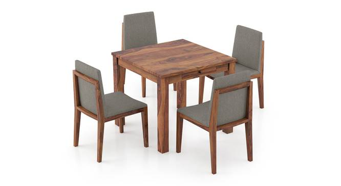 Arabia Storage - Galatea 4 Seater Dining Table Set (Teak Finish) by Urban Ladder - Front View Design 1 - 296985