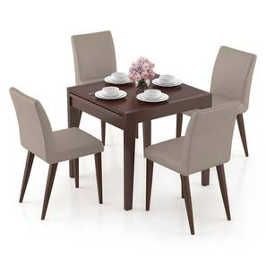 Murphy 4-to-6 Extendable - Persica 4 Seater Dining Table Set (Beige, Dark Walnut Finish) by Urban Ladder