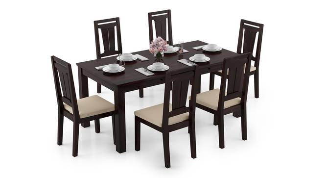 Arabia XL Storage - Martha 6 Seater Dining Table Set (Mahogany Finish, Wheat Brown) by Urban Ladder - Design 1 Full View - 297109