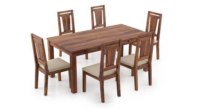 Arabia XL Storage - Martha 6 Seater Dining Table Set (Teak Finish, Wheat Brown) by Urban Ladder - Front View Design 1 - 297120