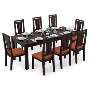 Arabia XXL - Martha 8 Seater Dining Table Set (Mahogany Finish, Burnt Orange) by Urban Ladder - Design 1 Full View - 297261