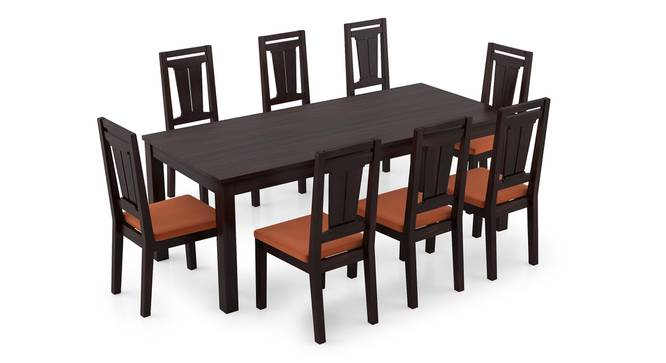 Arabia XXL - Martha 8 Seater Dining Table Set (Mahogany Finish, Burnt Orange) by Urban Ladder - Front View Design 1 - 297262