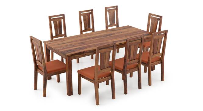 Arabia XXL - Martha 8 Seater Dining Table Set (Teak Finish, Burnt Orange) by Urban Ladder - Front View Design 1 - 297271