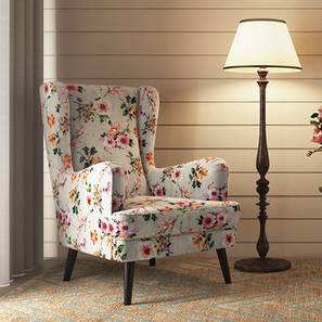 Genoa Wing Chair (Floral) by Urban Ladder - Design 1 Full View - 297357