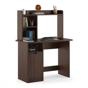 Bond Study Table (Smoked Walnut Finish) by Urban Ladder