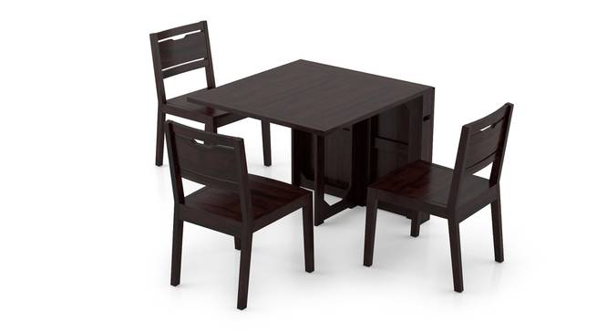 Danton 3-to-6 - Aries 6 Seater Folding Dining Table Set (Mahogany Finish) by Urban Ladder - Front View Design 1 - 297389