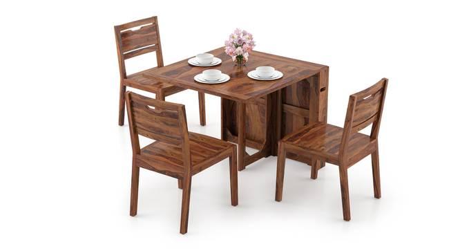 Danton 3-to-6 - Aries 6 Seater Folding Dining Table Set (Teak Finish) by Urban Ladder - Design 1 Full View - 297401
