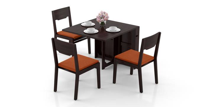 Danton 3-to-6 - Kerry 6 Seater Folding Dining Table Set (Mahogany Finish, Burnt Orange) by Urban Ladder - Design 1 Full View - 297414