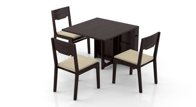 Danton 3-to-6 - Kerry 6 Seater Folding Dining Table Set (Mahogany Finish, Wheat Brown) by Urban Ladder - Front View Design 1 - 297441