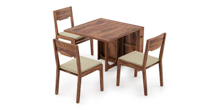 Danton 3-to-6 - Kerry 6 Seater Folding Dining Table Set (Teak Finish, Wheat Brown) by Urban Ladder
