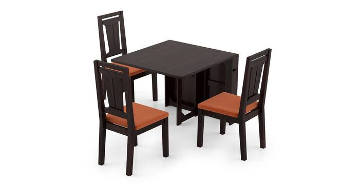 Danton 3-to-6 - Martha 6 Seater Folding Dining Table Set (Mahogany Finish, Burnt Orange) by Urban Ladder - Front View Design 1 - 297467