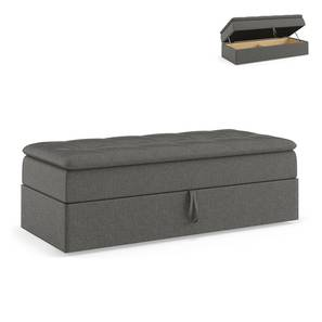 Peckham Ottoman (Grey, With Storage) by Urban Ladder - Front View Design 1 - 297527