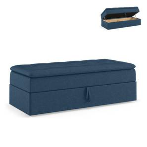 Peckham Ottoman (Blue, With Storage) by Urban Ladder - Front View Design 1 - 297547