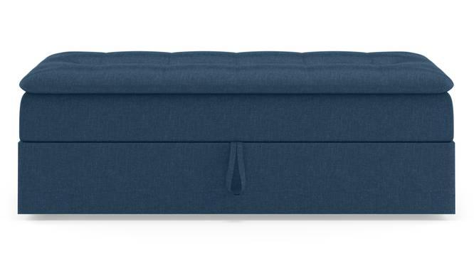 Peckham Ottoman (Blue, With Storage) by Urban Ladder - Front View Design 1 - 297547