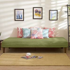 Mou Bed With Mattress (Pistachio Green) by Urban Ladder - Design 1 Full View - 297558