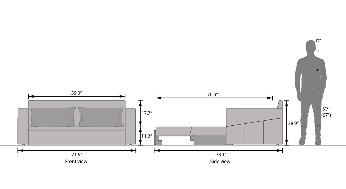 Camden sofa bed malibu 22
