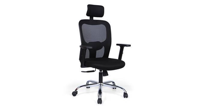 Edmund Study Chair (Black) by Urban Ladder - Design 1 Full View - 297617
