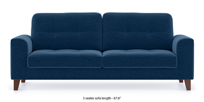 Verona Sofa (Cobalt Blue) (3-seater Custom Set - Sofas, None Standard Set - Sofas, Cobalt, Fabric Sofa Material, Regular Sofa Size, Regular Sofa Type)
