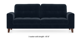Verona Sofa (Sea Port Blue Velvet)