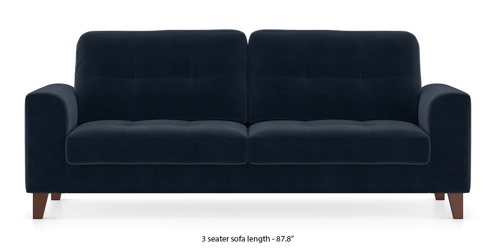Verona Sofa (Sea Port Blue Velvet) by Urban Ladder