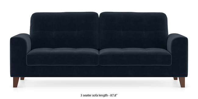 Verona Sofa (Sea Port Blue Velvet) (1-seater Custom Set - Sofas, None Standard Set - Sofas, Fabric Sofa Material, Regular Sofa Size, Regular Sofa Type, Sea Port Blue Velvet)